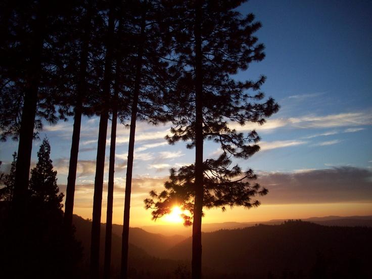 A Beautiful Sunset in Mi-Wuk Village Near Sonora, Ca