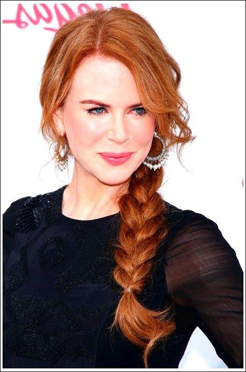 Kupferhaar: Chaotisch geflochtene Frisur für Frauen – Nicole Kidmans Frisur