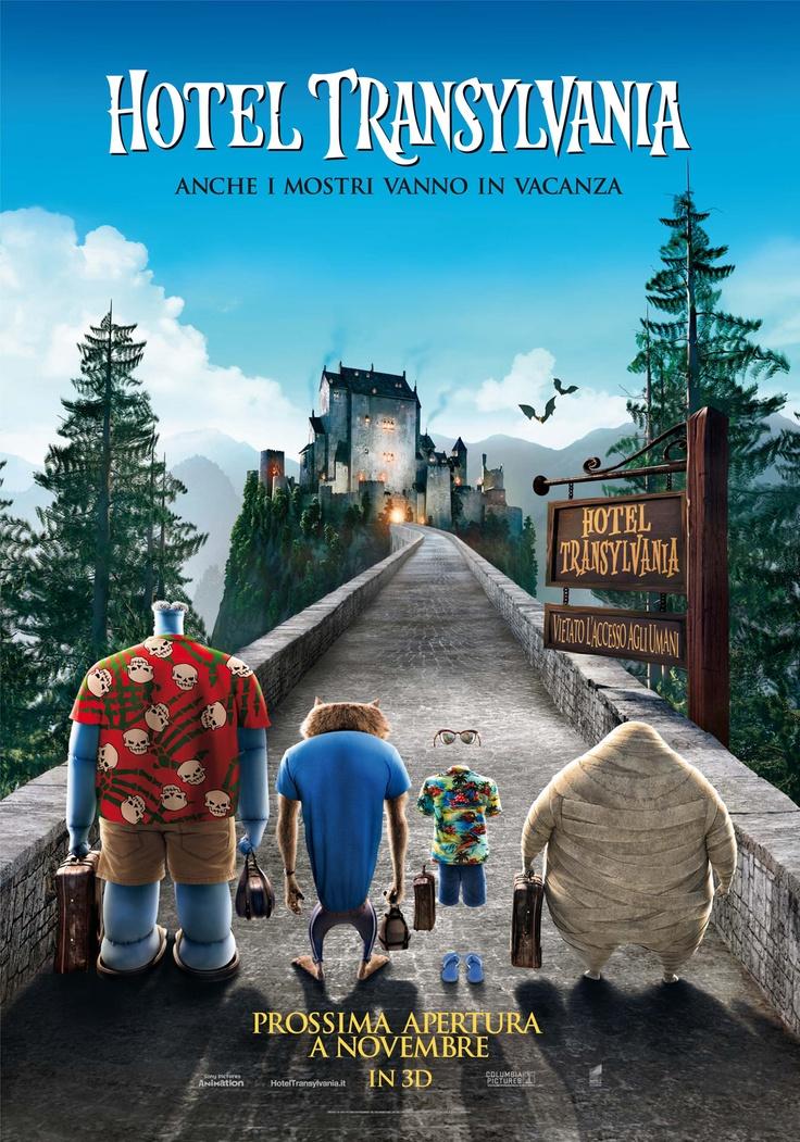 poster italiano di HOTEL TRANSYLVANIA film di animazione 3D