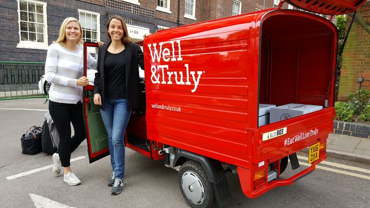 Electric Ape Van for Well & Truly food London