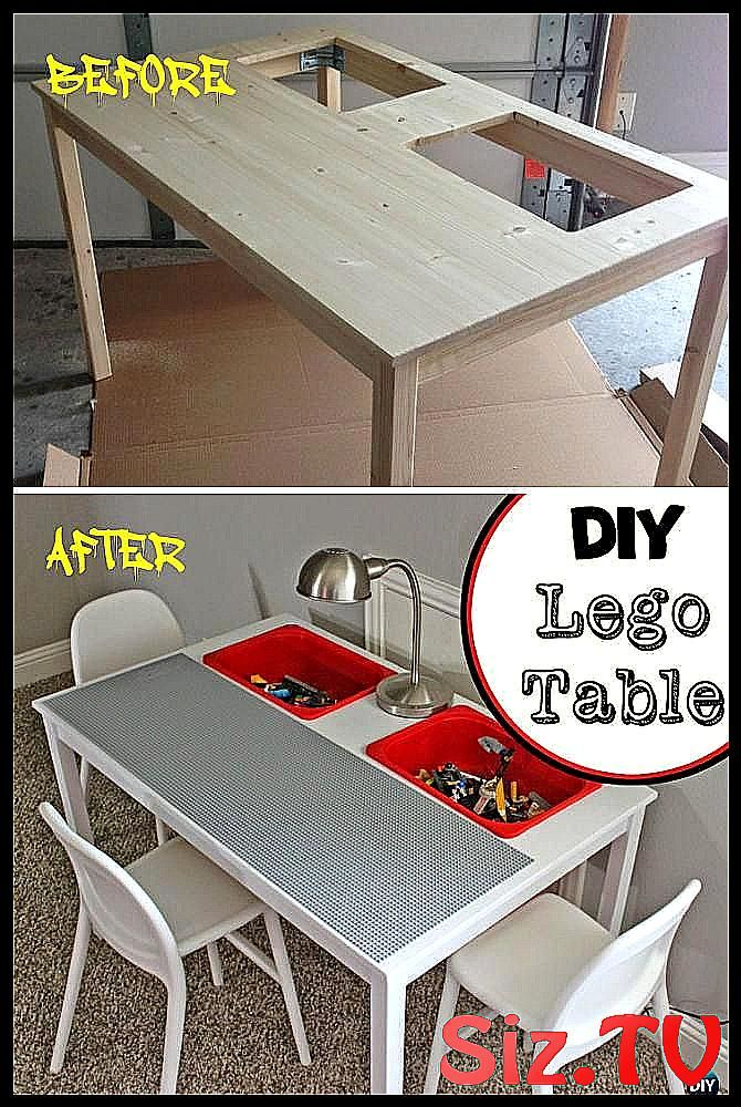 10 Diy Lego Table Projects Picture, Wooden Lego Table With Chairs