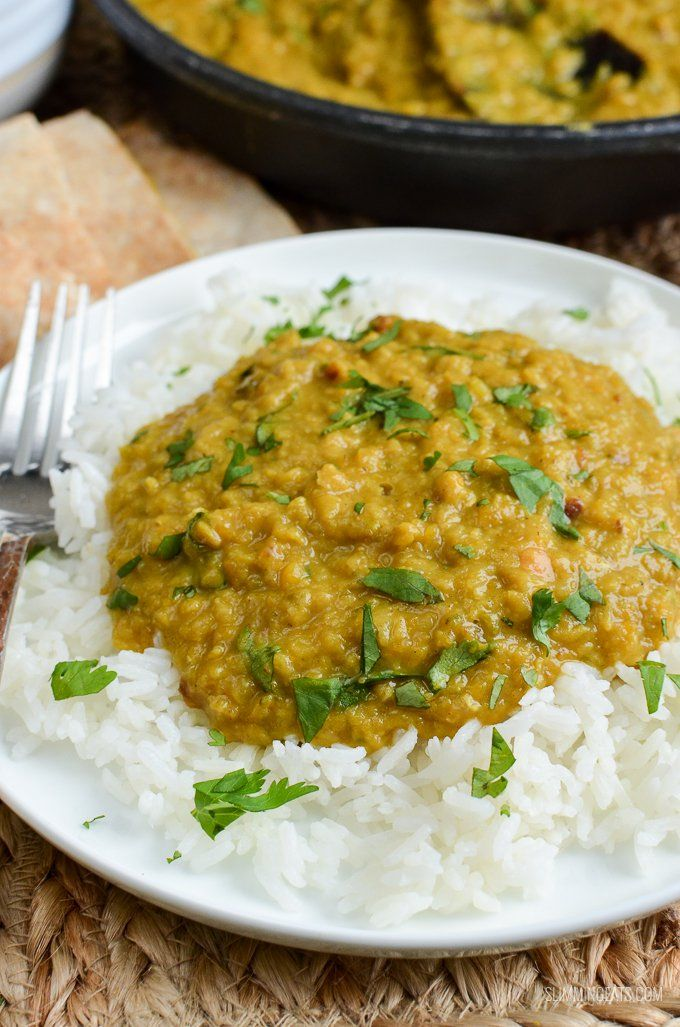 Simple but delicious Low Syn Red Lentil Dhal - pure comfort in a bowl and a perfect recipe for freezing leftovers.