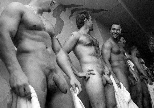 Nude french rugby team