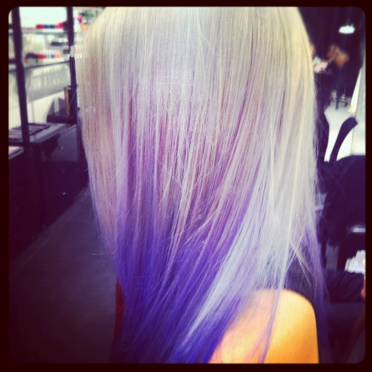 Amazing Purple Blue Dip Dye Hair Amp Beauty Pinterest