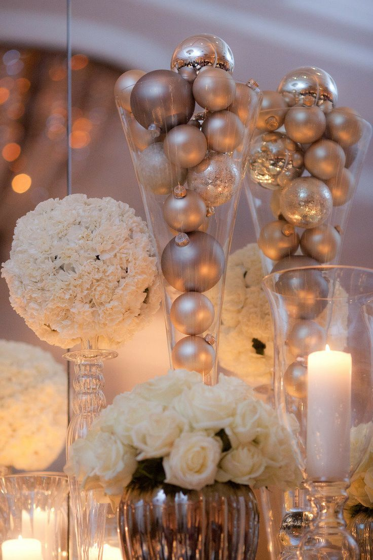 Christmas table decorations gold - Cost Saving Tip Pick The Right Venue Plus 50 Amazing Wedding Reception Ideas To