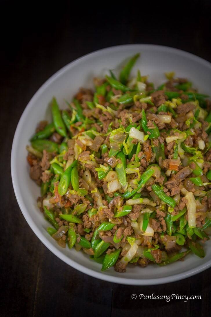 Sauteed Green Beans with Ground Beef Recipe