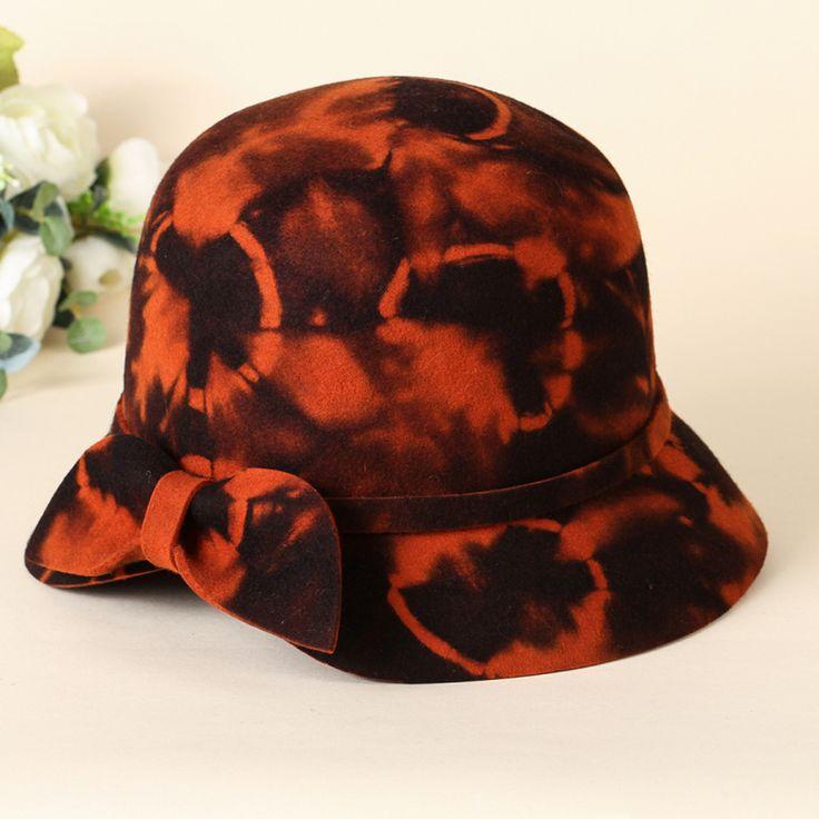 2014 New Wool Bowler Bucket Hat Women Felt Fedoras Church Hat Chapeu Panama Feminino 3 Colors
