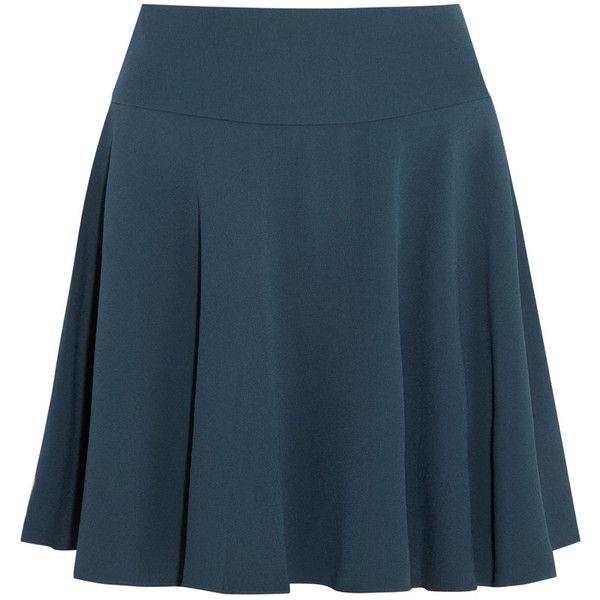 Maria Grachvogel Charleston crepe mini skirt (725 BRL) ❤ liked on Polyvore featuring skirts, mini skirts, falda, saias, petrol, blue mini skirt, maria grachvogel, short blue skirt and crepe skirt