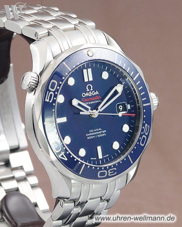 Omega Seamaster Diver 300m Co-axial, Referenznummer: 21230412003001, Herrenuhr, Taucheruhr, Gehäusematerial: Stahl (4594) -- www.uhren-wellmann.de --