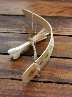 DIY Bow and Arrow- GREAT picture tutorial