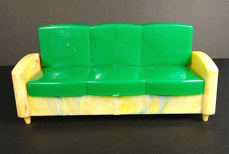 Vintage Ideal Toy Doll House Sleeper Sofa Couch - RARE one to Find! | eBay