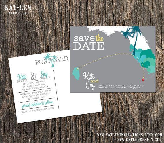 Key West Florida – Save the Date – Destination Wedding – Wedding Save the Dates on Etsy, $15.00