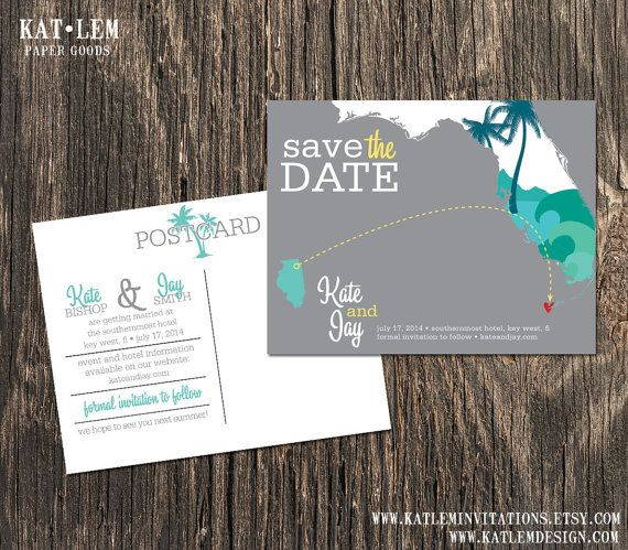 Key West Florida – Save the Date – Destination Wedding – Wedding Save the Dates on Etsy, $15.00