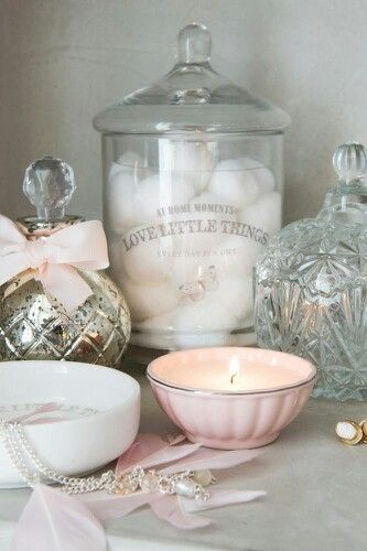 Glas, roze, armeluis zilver