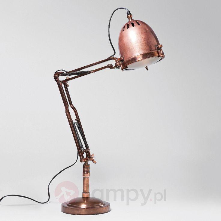 Giętka lampa stołowa RIFUGIO COPPER 5517373