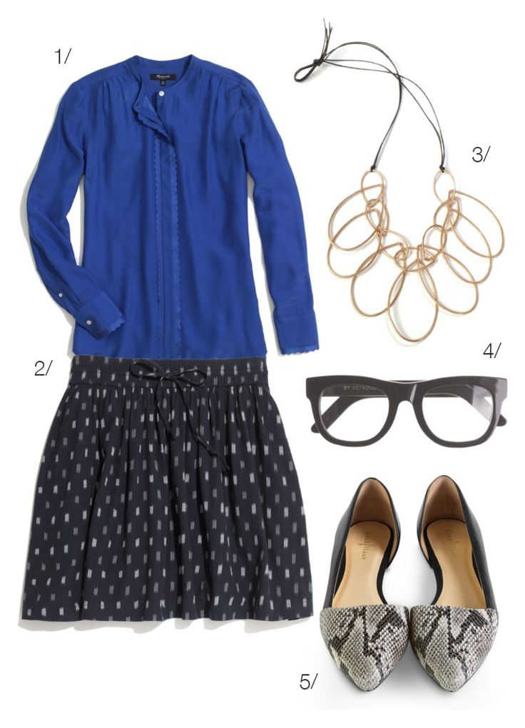 summer office style // featuring the melissa statement necklace by megan auman // click for outfit details
