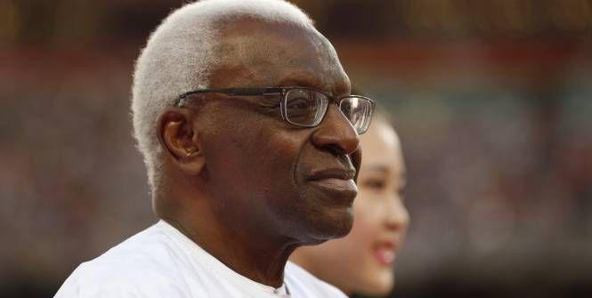 Lamine Diack, l'ancien président de l'IAAF. (Boué) (L'Equipe) Corruption à l'IAAF: Lamine Diack voulait financer sa campagne électorale au Sénégal