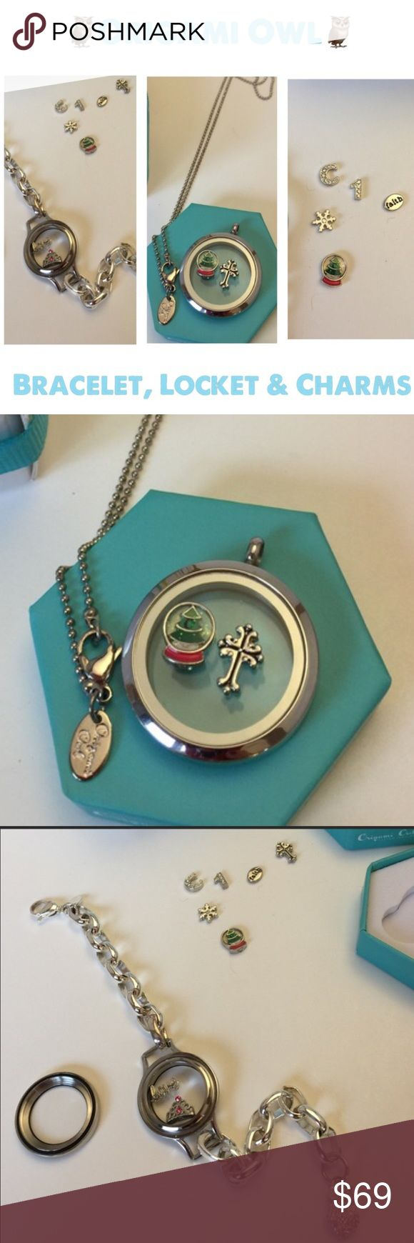 NEW 💕Origami Owl Living Locket Bracelet & Pendant NEW 💕 Origami Owl Living Locket Bracelet & Pendant 💕8 Charms 💕 Entire Collection 💕 I will consider selling individually! 💕 Origami Owl Jewelry
