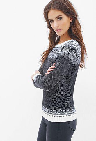 Fair Isle Striped Sweater   Love21 - 2000059887 I love this winter sweater!