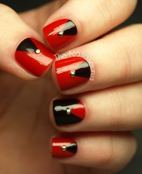 Ongles rouge et noir