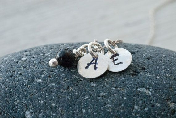 Personalized Initials Necklace Custom Sterling by PiscesAndFishes