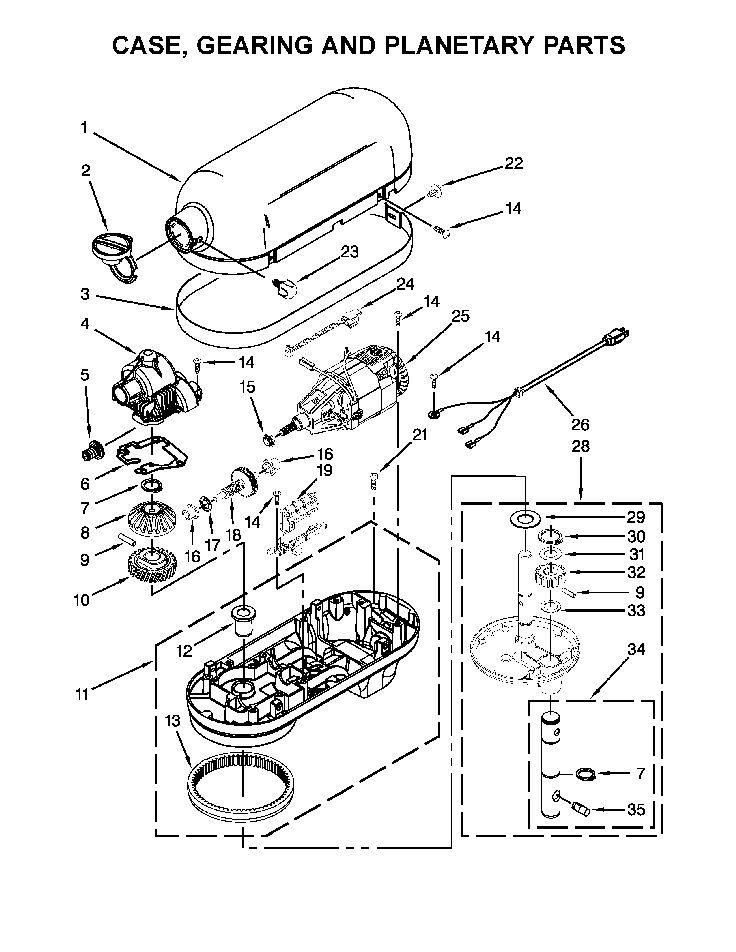 Shop For Kitchenaid Mixer Repair Parts For Model Kg25h0xmc5 At