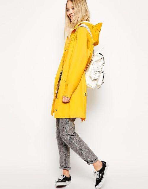 Rains Jacket in Bright Yellow bij Asos.com