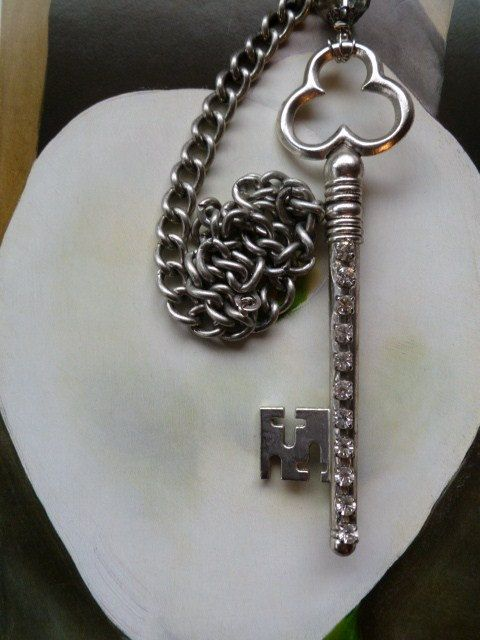 Crystal Rhinestone Key Pull Chain For Light Fixture Or