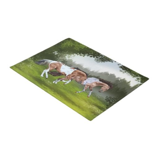 Buckskin Tobiano Paint Horses Doormat