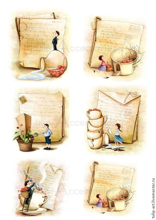Купить Картинки для ткани, фетра и дерева (перевод утюгом) термотрансфер - иллюстрация, иллюстрации, термотрансфер