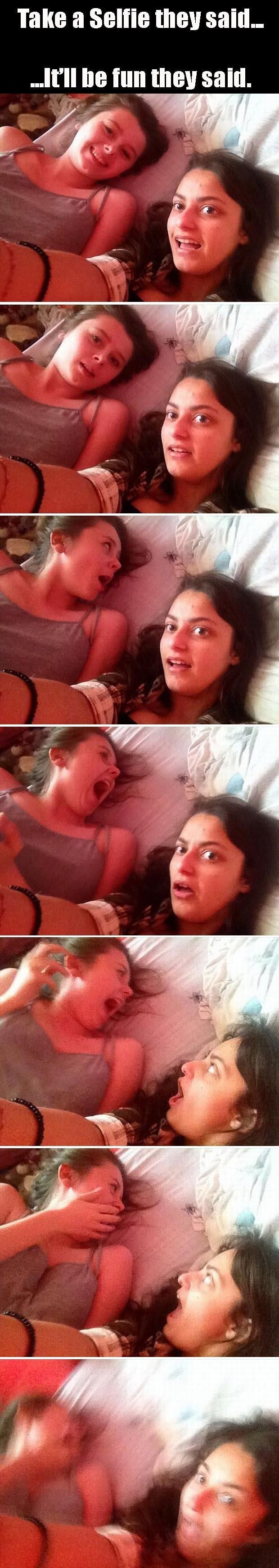 Dump A Day Funny Pictures Of The Day - 92 Pics. Selfie gone wrong...photobombed by the spider...Lolololol!