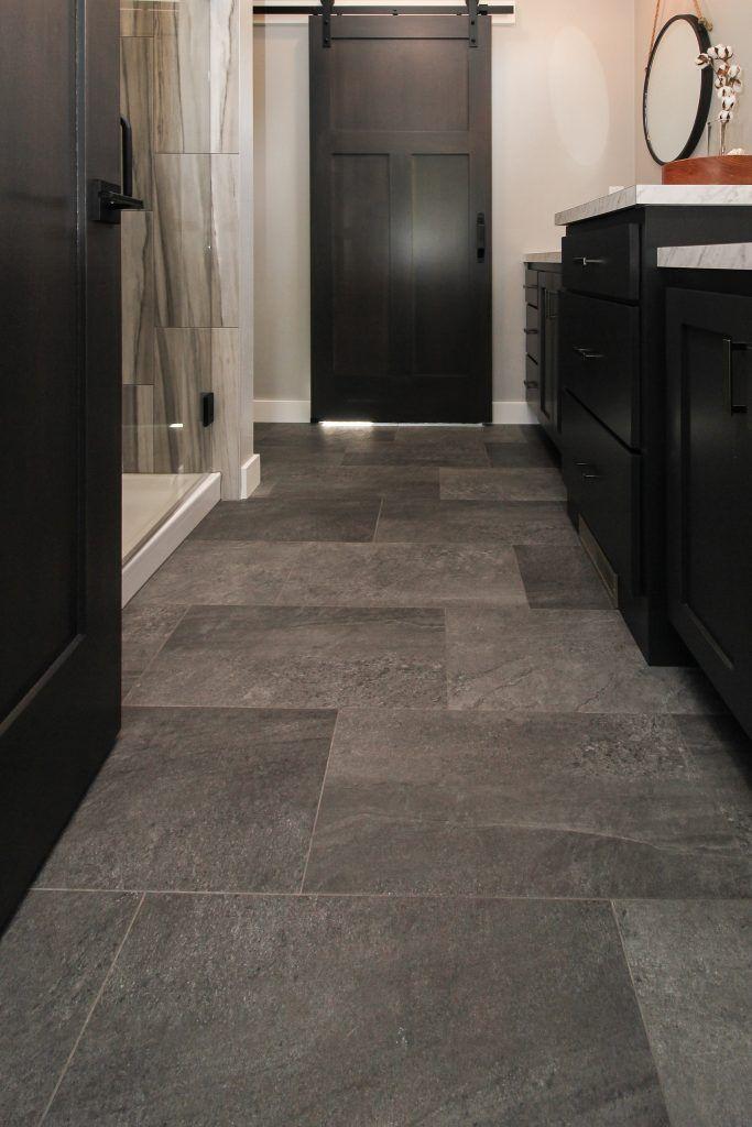 Grey Luxury Vinyl Tiled Bathroom In 2020 Luxury Vinyl Tile Flooring Luxury Vinyl Tile Stone Tile Flooring