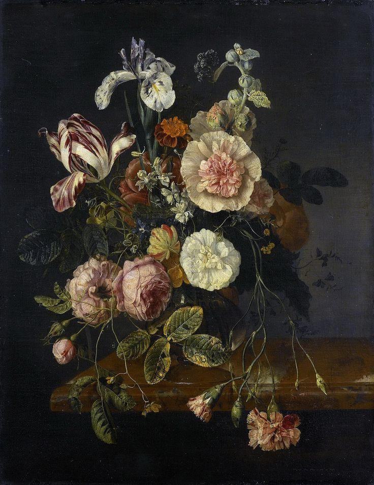 Jacob van Walscapelle (Dordrecht 1644-1727 Amsterdam), Floral Still Life, ca.1670-1727, Rijksmuseum Amsterdam