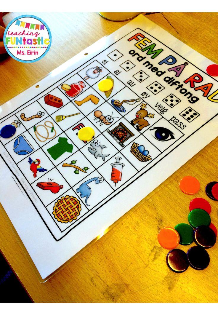 PY 2 - Uke 6: Vi jobber med diftonglydene (ei, ai, au, øy). Vi øver oss på å lytte dem ut i ord og skrive ord med diftong.