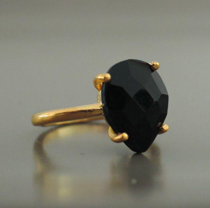 Black Gold Gemstone Rings