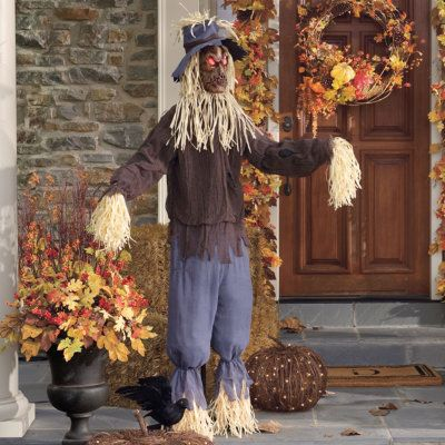 23 best images about scarecrows on pinterest jumping for Animated scarecrow decoration