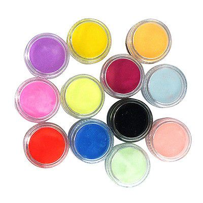 12 mixed diy acrylic nail art tips uv gel #powder dust 3d #decor #gorgeous set,  View more on the LINK: http://www.zeppy.io/product/gb/2/291732212707/