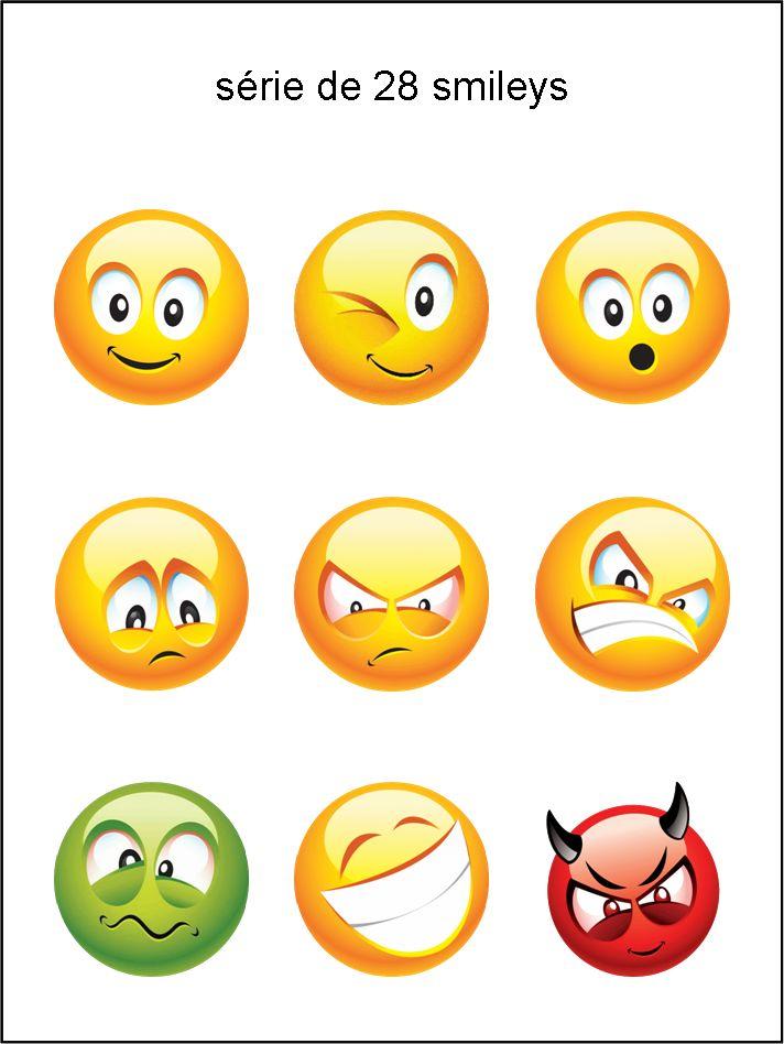 CC - collection de visages - smiley émoticône clipart cartoon - téléchargement gratuit et sans inscription