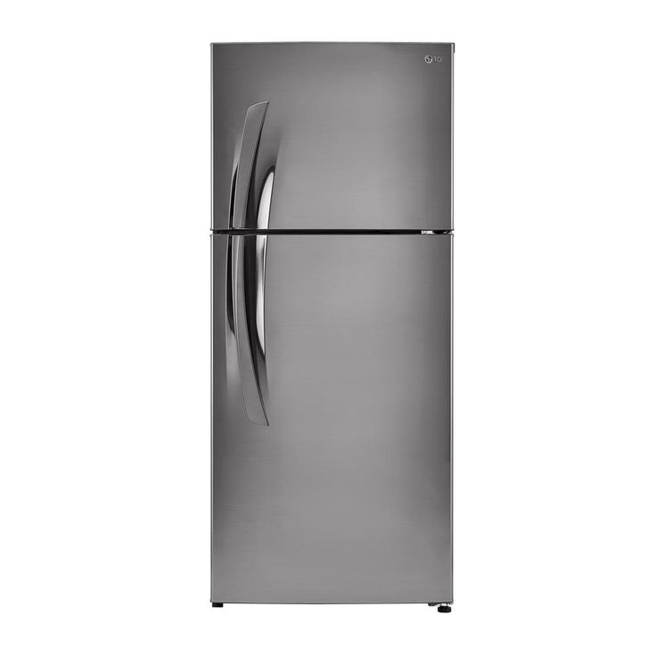 LG Electronics 16 cu. ft. Top Freezer Refrigerator in Stainless, Stainless Vinyl