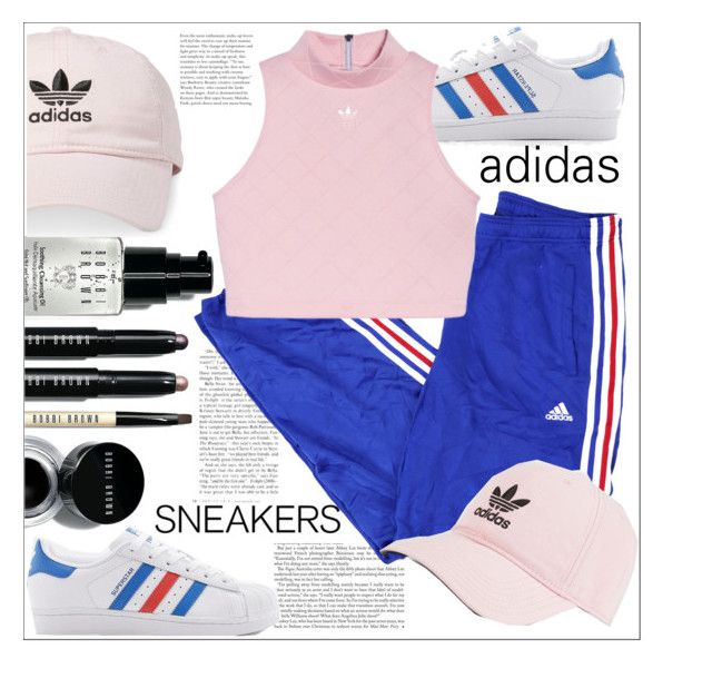 """""""adidas"""" by hajarlamine on Polyvore featuring Bobbi Brown Cosmetics and adidas"""