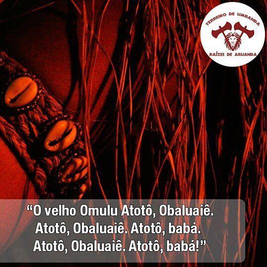 Em respeito ao sincretismo com São Roque hoje comemoramos o dia de Omolú ou Obaluaê. Ambos os nomes falam da mesma divindade Omolú foi saudado e cultuado em várias terras com nomes diferentes não se sabe ao certo qual a cidade que iniciou seu culto mas várias renderam suas homenagens ao Rei de Savé Daomé o Senhor das palhas e da quentura sim a quentura Omolú está ligado ao fogo do interior da terra o que pode ser tão avassalador quanto o fogo de um vulcão? As doenças contagiosas. Filho de…