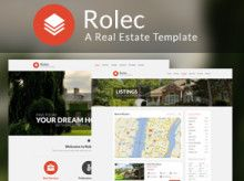 The modern design in Real estate WordPress theme   WDRemix   Top Web Design