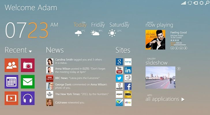 The Start screen has been revised in this #Windows 9 concept http://news.softpedia.com/news/Windows-9-Concept-Launches-with-a-Much-More-Appealing-Start-Screen-413037.shtml