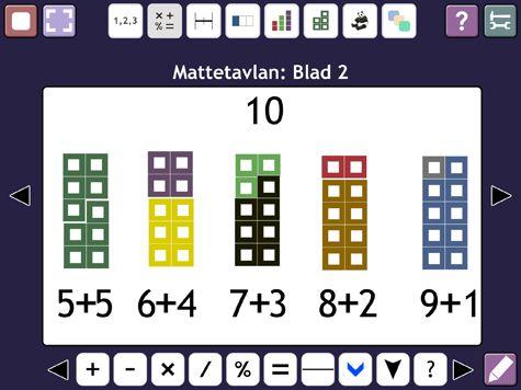 Mattetavlan är ett interaktivt verktyg för undervisning i grundläggande matematik.