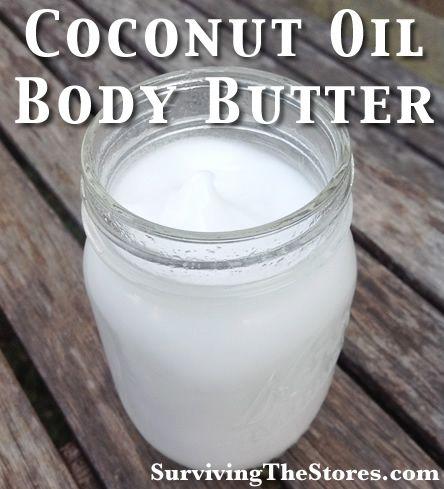 EASY Homemade Coconut Oil Body Butter!