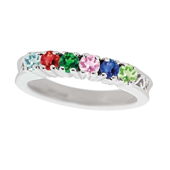 91a28759ba2d0 Mother's Birthstone Ring in Sterling Silver (3-7 Stones) | Products ...