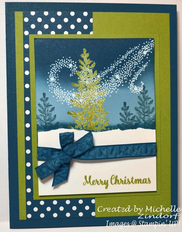 North Wind Christmas Stampin' UP! Card created by Michelle Zindorf - Lovely As A Tree, Star of Light