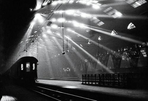 …Central Station, Milan, 1955 byPepi Merisio…