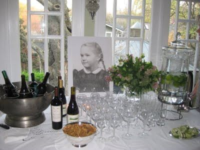 @Janah Reynolds - if you have an childhood pic that you could have blown up it could be cool on a back table (or somewhere) for added decoration