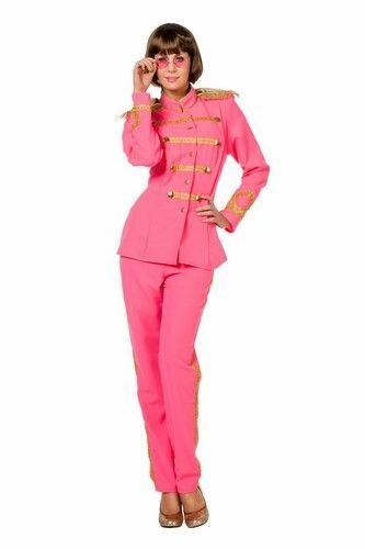 Roze Carnavalskleding Dames.Sgt Pepper Neon Roze Dames Is Een Geweldig Vrolijk Kostuum Voor